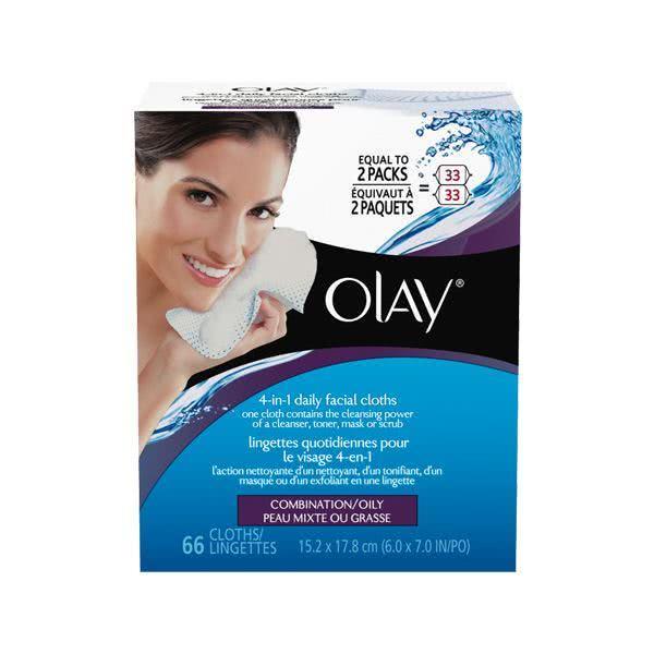 تصویر دستمال پاک کننده روزانه برای پوستهای ترکیبی و چرب اولای