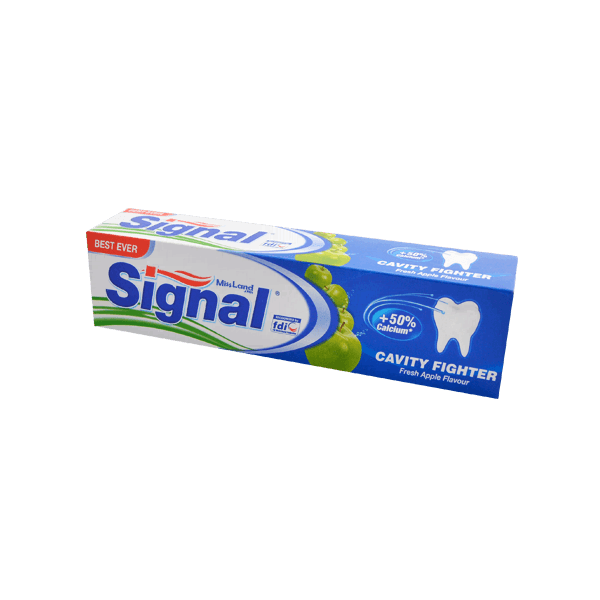 تصویر خمیر دندان ضد پوسیدگی سیب سبز سیگنال