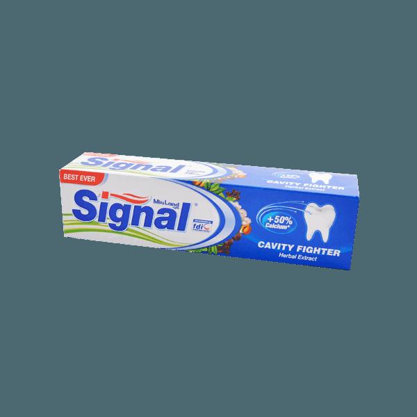 تصویر خمیر دندان ضد پوسیدگی عصاره گیاهی سیگنال
