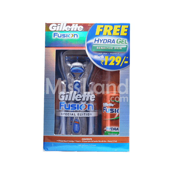 Gillette Fusion Set with Hydra Gel