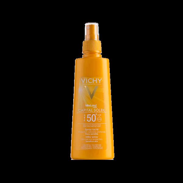 تصویر اسپری ضد آفتاب شیری بدن ویشی