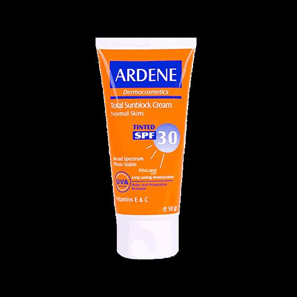 تصویر کرم ضد آفتاب رنگ بژ ویتامینه ۳۰ آردن