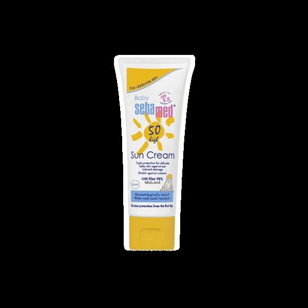 تصویر کرم ضد آفتاب کودک بدون بو ۵۰ سبامد