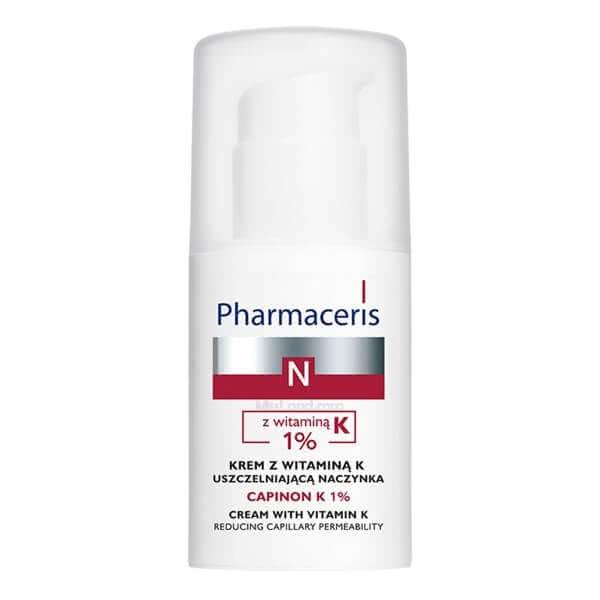 تصویر کرم حاوی ویتامین کا کاهش دهنده نفوذپذیری مویرگ کاپینون کا ۱٪ فارماسریز