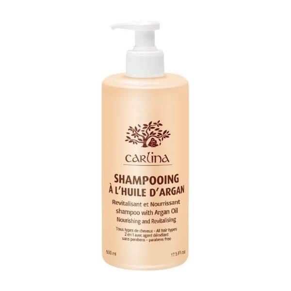 تصویر شامپو ۲ در ۱ موهای خشک آرگان کارلینا